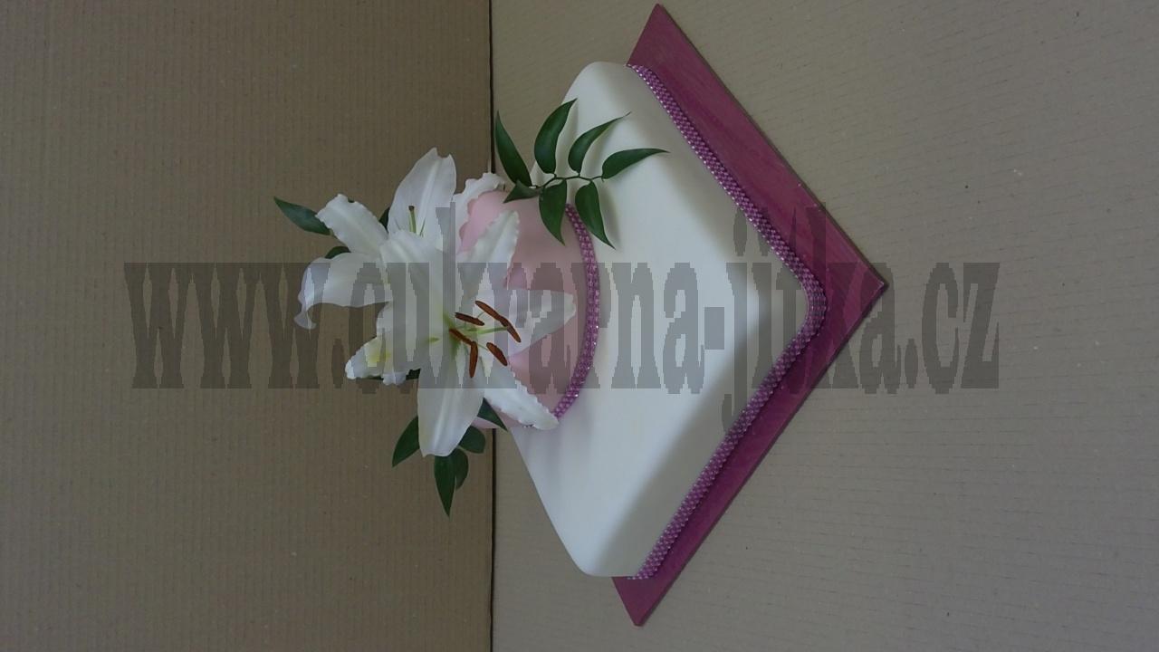 svatební dort 2 patra živé orchideje