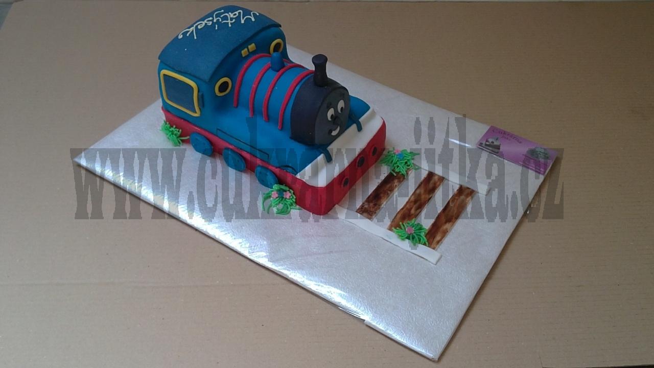 dort mašinka Tomáš s kolejema