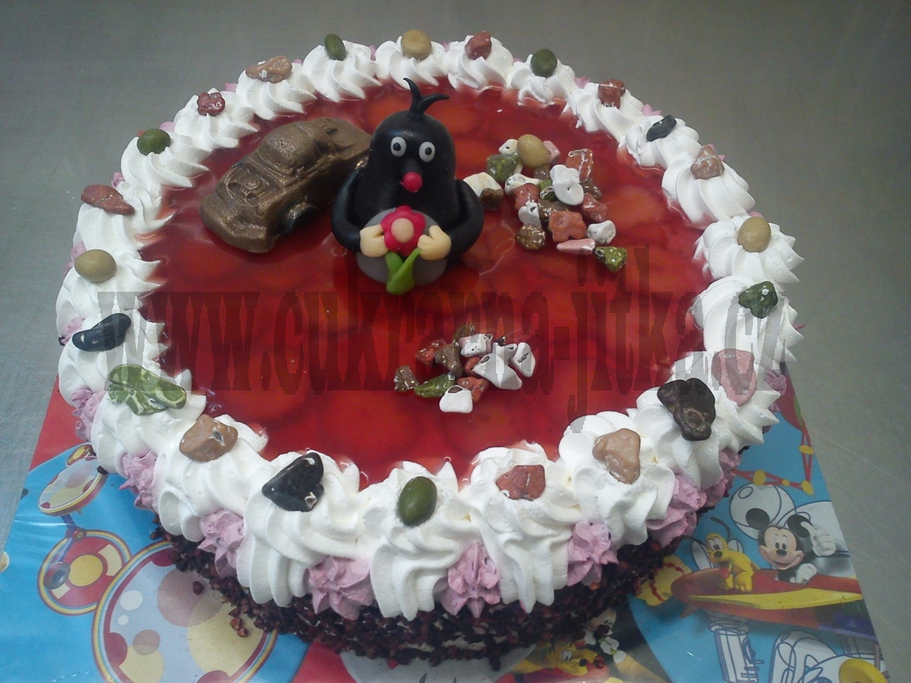 dort ovocný jahody,želé,krteček,autíčko   č.