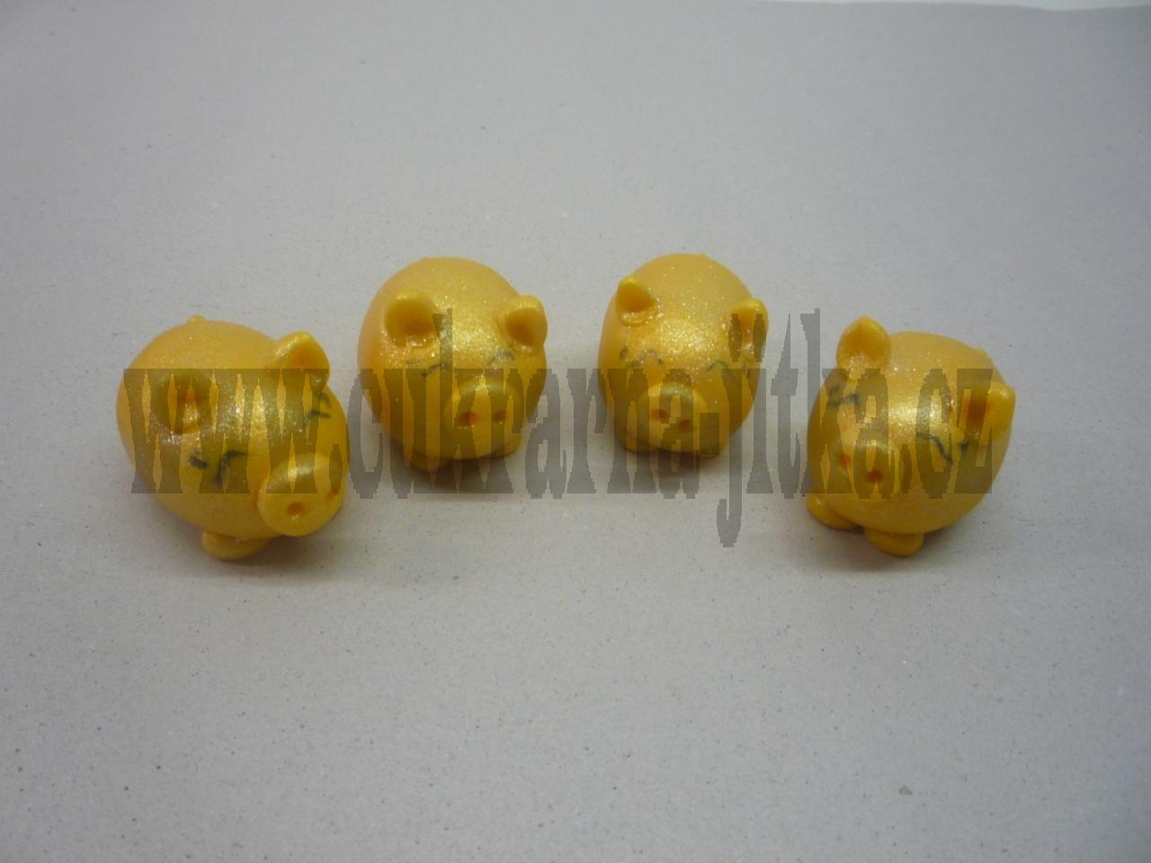 marcipánová zlatá prasátka