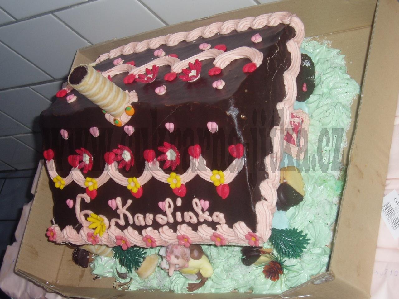 chaloupka  s čarodejnicí dort   č.211