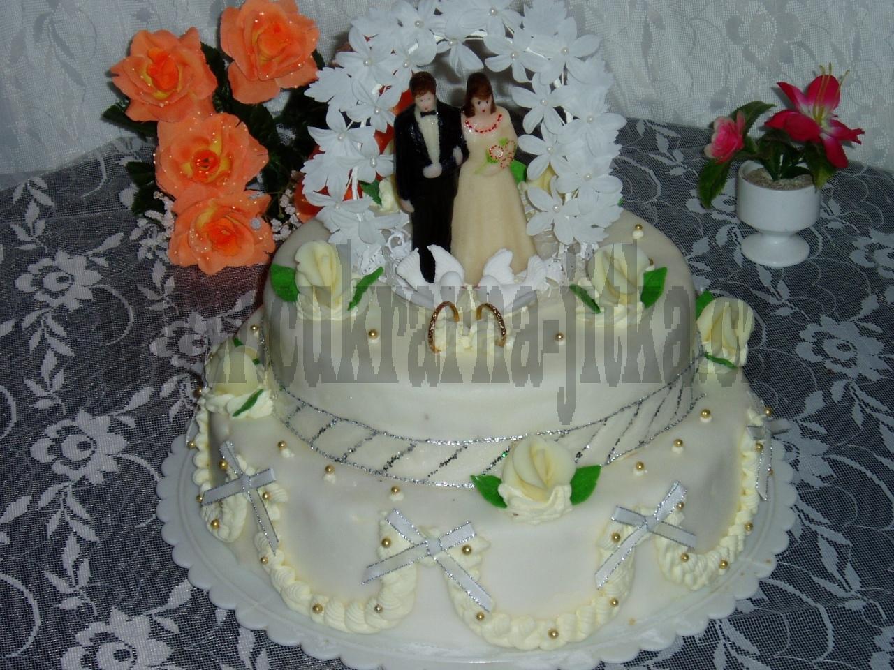 svatební dort  2 patrový dort    č.018
