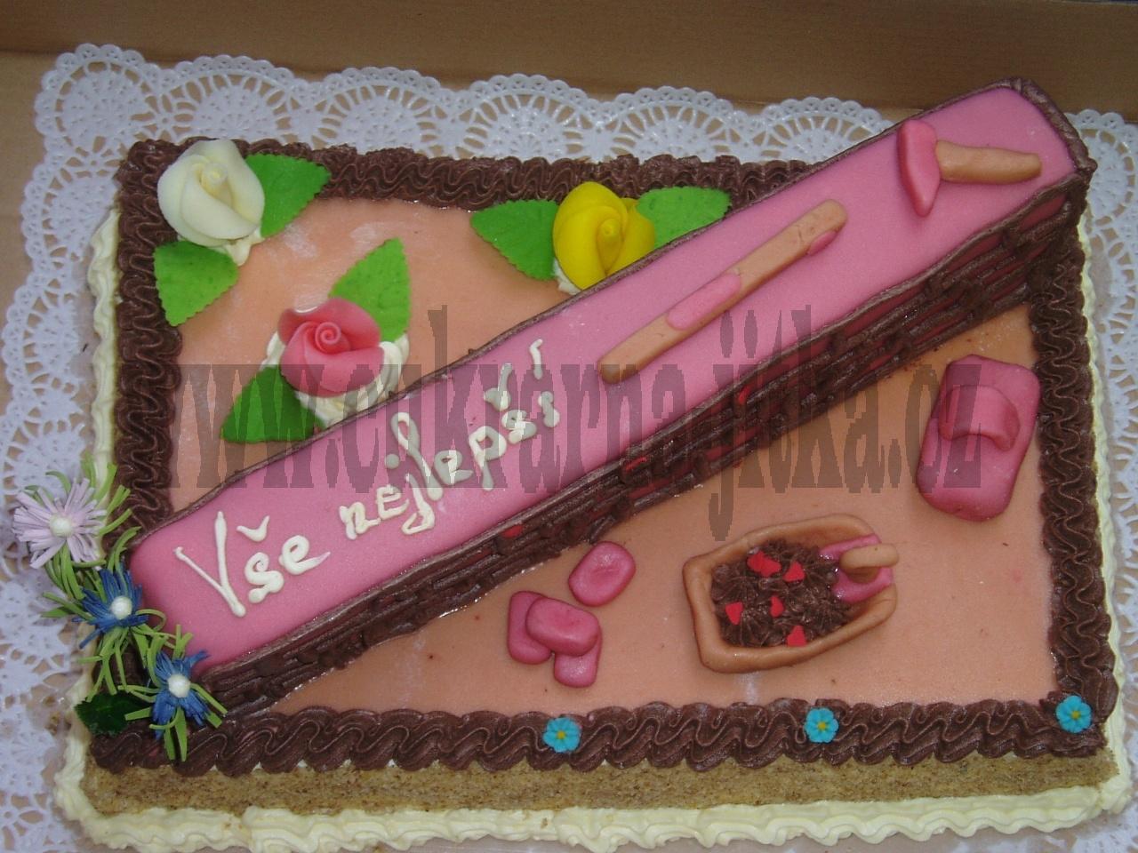 cihlová zeď dort pro zedníka  č.193