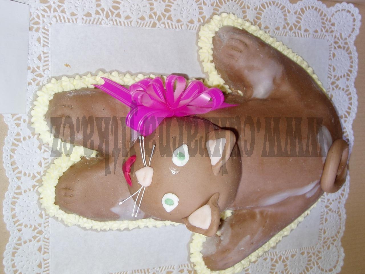 zvířátko  kočička dort    č. 219