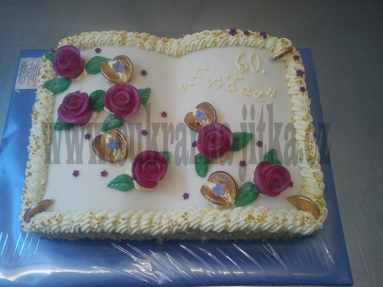 kniha otevřená dort s růžemi  č.508