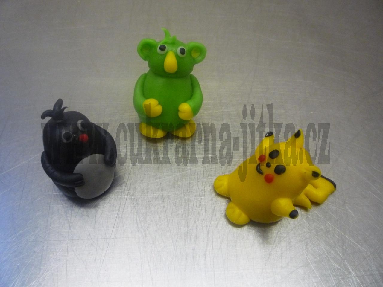 figurky marcipánové,krteček rákosníček,pikachu