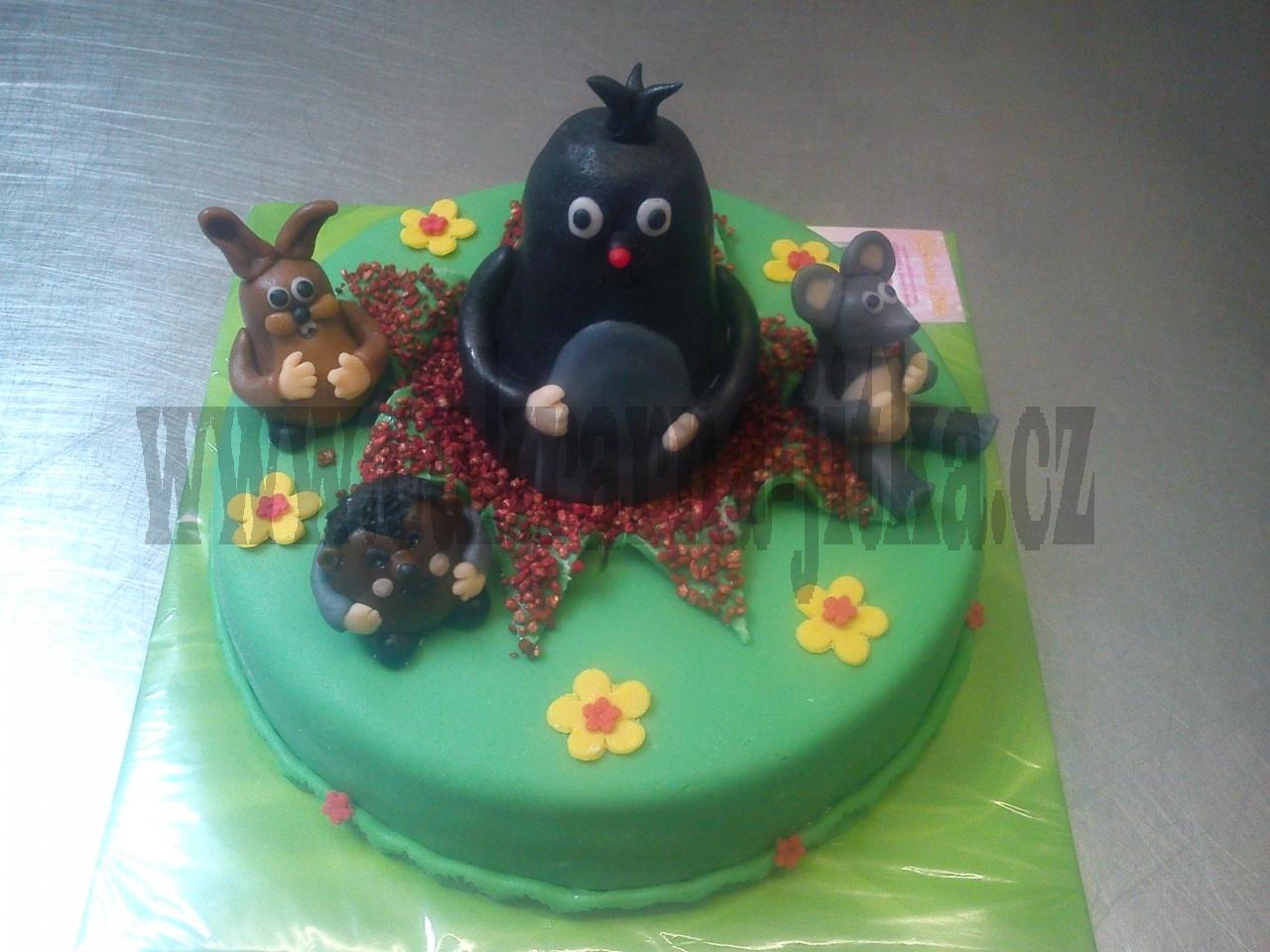 krteček a zvířátka dort č.530