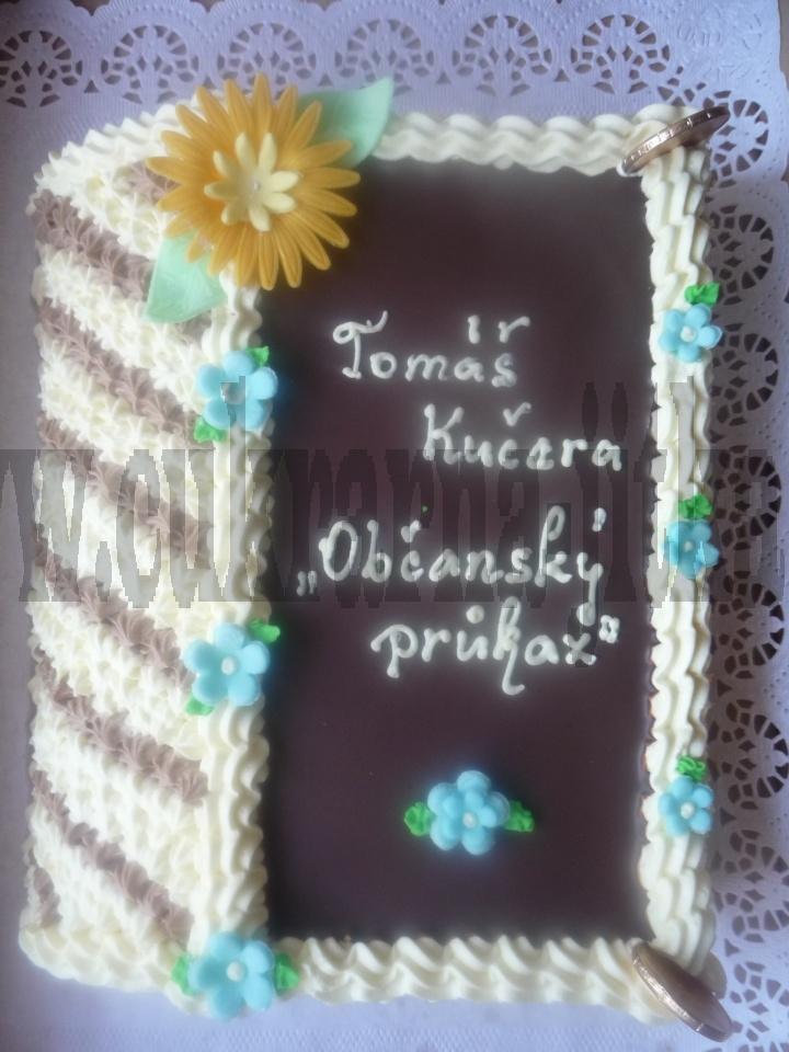 kniha zavřená dort  vrch čokoláda     č.176