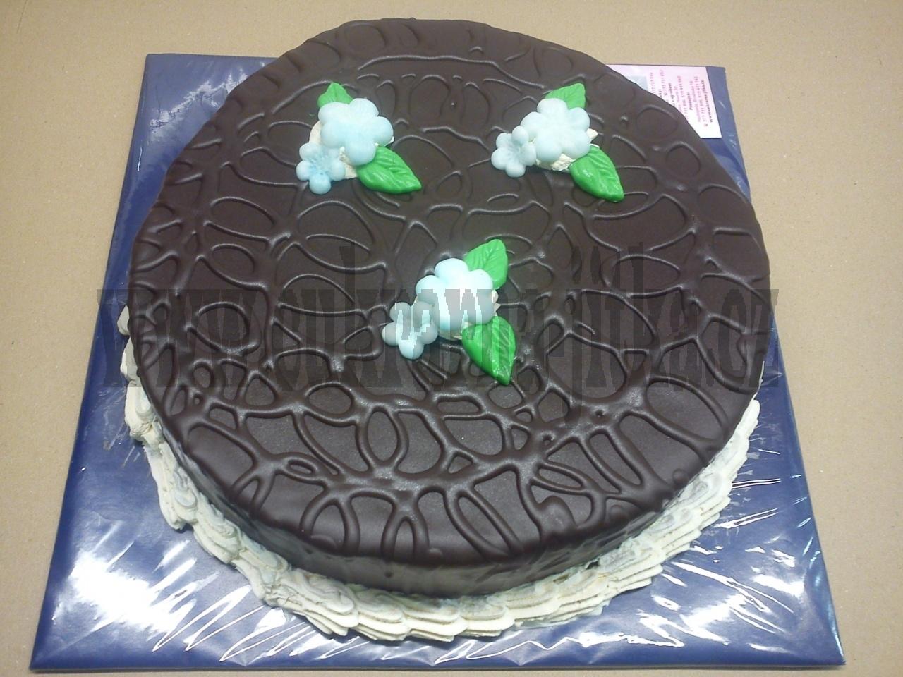 dort kulatý v čokoládě