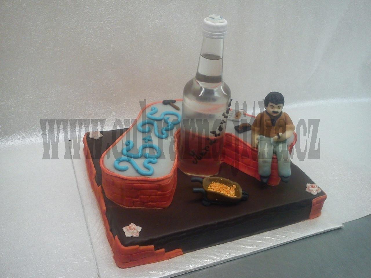 dort pro obkladače- zedníka s flaškou mandlovice č.707