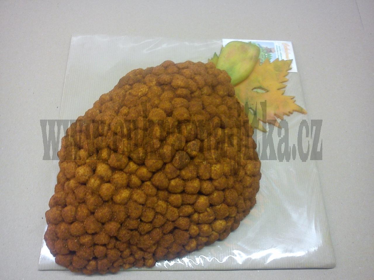 slaný dort hrozen  sýrový - podzimí list