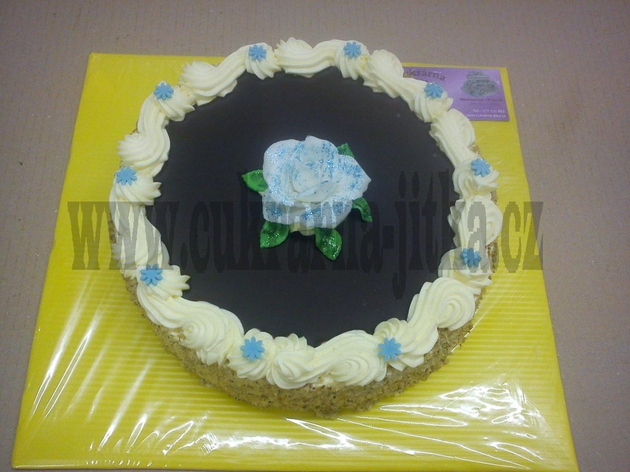 dort vrch čokoláda,velká růže
