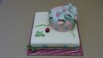 dort pro slečnu patrový s marcipánovými kvítky, beruška