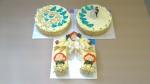 svatební dorty kulaté - svatební slaný dort podkova sýrová