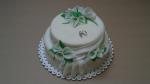 svatební dort 2 patra kaly,prstýnky č.751