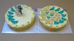 svatební kulatý dort krémový s ořechem č.755