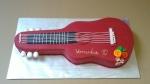 dort červená kytara