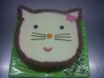 dort hlava Hellou Kitty, vrch bílá čokoláda