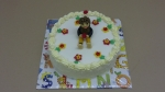 dort kulatý vrch bílý marcipán, figurka brouček