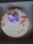 dort kulatý - celý v marcipánu s panenkou