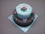 svatební 2 patrový dort krémový II