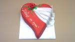 svatební děkovný dort srdce