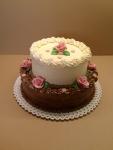 svatební 2 patrový dort krémový I
