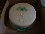děkovný dortík zelenkavá mašle finální podoba