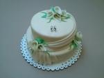 svatební 2 patrový dort kaly,prstýnky k 50 výročí svatby II