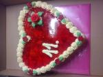 dort srdce ovoce jahody ,želatina