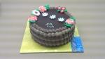 dortík čokoládovo čokoládový ,bok krémový