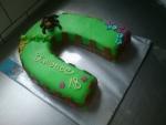 dort podkova  s marcipánovým koníkem