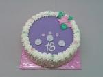 dortík kulatý fialový