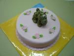 dort kulatý růžový s pejskem