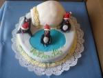 tučňáci s iglů dort  č.418