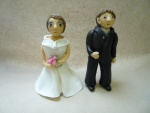 marcipánová figurka nevěsta s ženichem