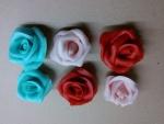 marcipánové velké růže