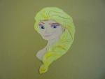 marcipánová 2D Elsa z Ledového království