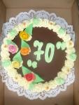 dort kulatý  vrch čokoláda