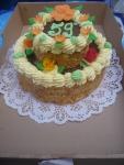 kulatý dvoupatrový dort    č.11