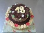 kulatý  dvoupatrový dort     č.339