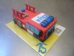 hasičské auto II. dort