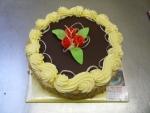 dort kulatý vrch čokoláda, bok ořech