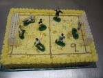 fotbalové hřiště - (racionální výživa), vrch krém sypaný ořechy  č.330
