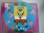 Spongebob v kalhotách dětský dort kulatý -   č. 412