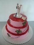 svatební  dort 3 patra    č.352