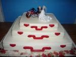 svatební dort 3 kufry na sobě      č.401