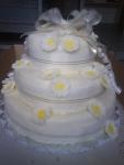 svatební dort kulatý 3 patra    č.423