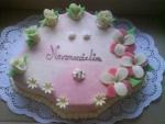 svatební dort vějíř-celý v marcipánu