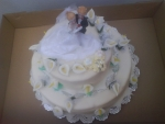 svatební dort kulatý 2 patra